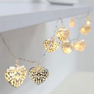 BEIYI Heart-Shape Fairy Lights