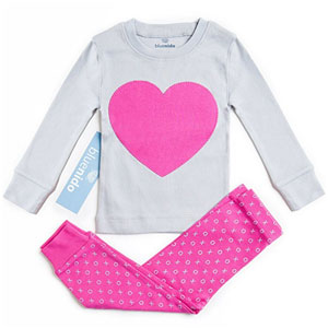 Bluenido Heart 2 Piece Pajama Set