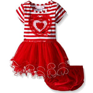 Bonnie Baby Girls Heart Tutu Dress
