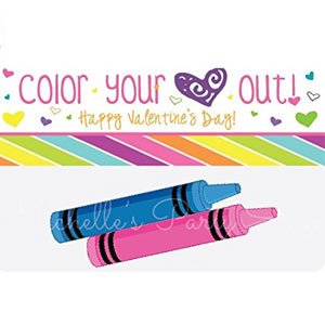 Color Your Heart Out Treat Bag Toppers (12 Pack)