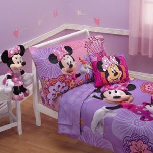 Disney 4-Pc Minnies Fluttery Friends Toddler Bedding