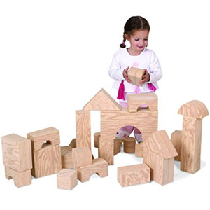 Edushape Big Wood-Like Blocks