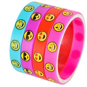 Emoji Wristband Bracelets (36 Pack)