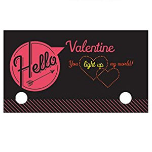 Glow Stick Valentines Cards (24 Pack)