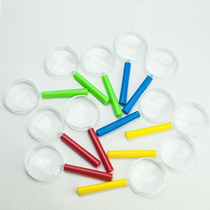 HUJI Plastic Magnifying Glasses (24 Pack)