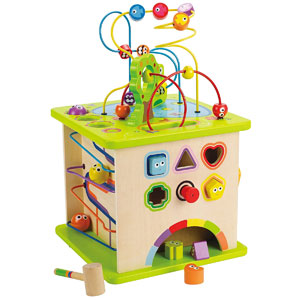 Hape Country Critters Wooden Cube