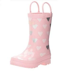 Hatley Polka Dot Hearts Rain Boots