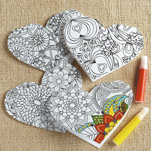 Heart Coloring Cards