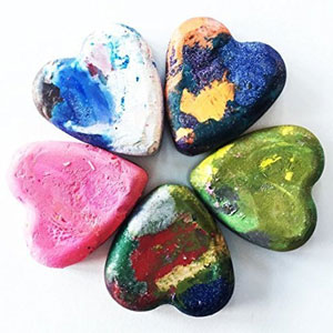Heart Crayons (5 Pack)
