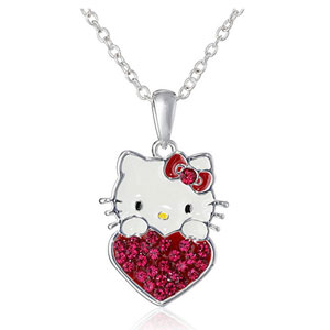 Hello Kitty Birthstone Heart Pendant