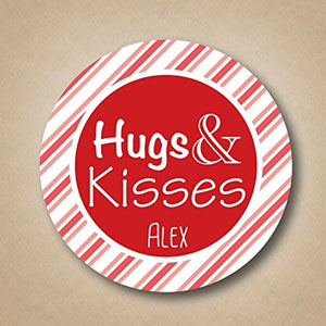 Hugs & Kisses  Valentine Labels (15 Pack)