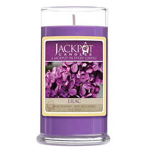 Jackpot Lilac Candle with Ring Inside