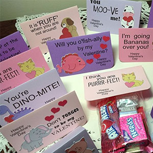 Just Scrap Silly Sayings Valentine Treat Bags (12 Pack)