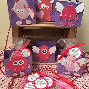 Just Scrap Valentine Monster Treat Boxes (6 Pack)