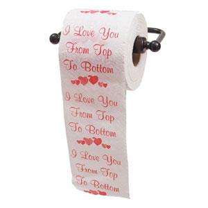 JustPaperRoses I Love You Toilet Paper