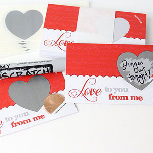 LoveNotes Scratch Off Coupons