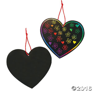 Magic Color Scratch Hearts (24 Pack)