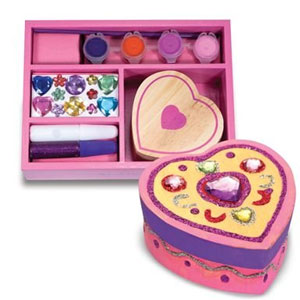 Melissa & Doug Wooden Heart Chest