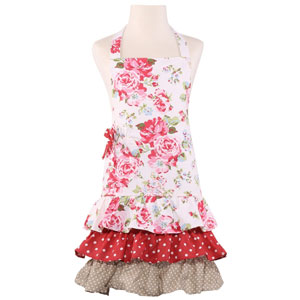 Neoviva Floral Cotton Kitchen Apron