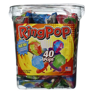 Ring Pop Jewel Shaped Hard Candy (40 Count)