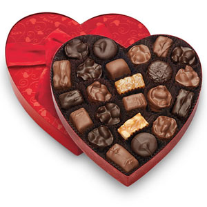 See's Classic Red Heart Nuts & Chews