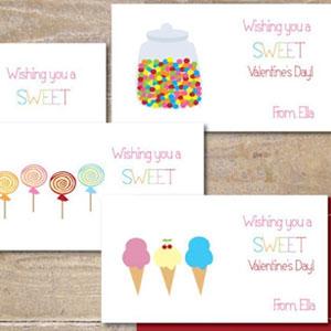 Sweet Bella Custom Valentine Cards (24 Pack)