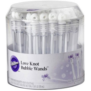 Wilton Love Knot Bubble Wands (36 Pack)
