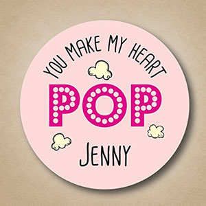 You Make My Heart Pop! Valentines Labels (15 Pack)