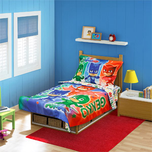 4-Piece PJ Masks Toddler Bed Set