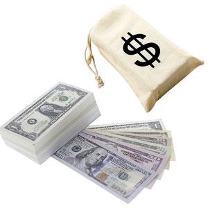 $9300 in Pretend Paper Play Money Dollar Bills