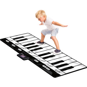 Click N Play Gigantic Keyboard Play Mat, 24 Keys Piano Mat, 8 Selectable Musical Instruments + Play -Record -Playback -Demo-mode
