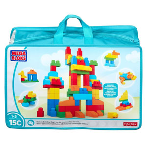 Mega Bloks Deluxe Building Bag, 150-Pcs