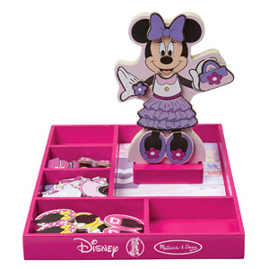 Melissa & Doug Disney Minnie Mouse Magnetic Dress-Up Wooden Doll Pretend Play Set (35+ pcs)