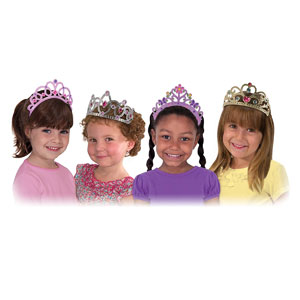 Melissa & Doug Dress-Up Tiaras for Costume Role Play (4 pcs)
