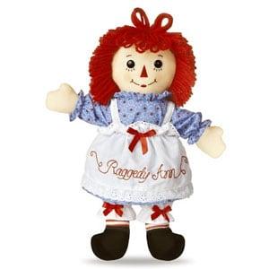 """Raggedy Ann Classic Doll 16"""""""