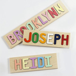 South Bend Woodworks Wooden Name Puzzle