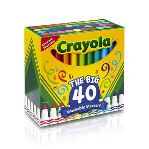Crayola The Big 40: Ultra-Clean Washable Broad Line Markers