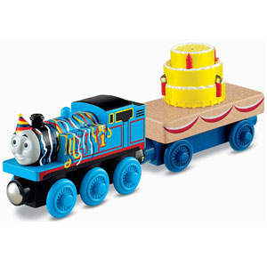 Fisher-Price Wooden Railway Thomas Happy Birthday