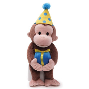 Gund Curious George Birthday Stuffed Animal