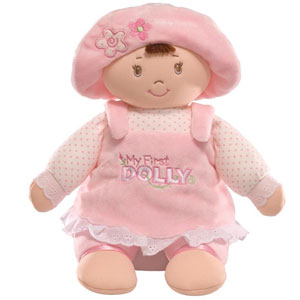 Gund My First Dolly Brunette Stuffed Doll