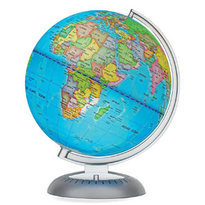 Illuminated World Globe for Kids With Stand