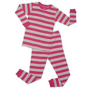 Leveret Baby Girl Striped 2 Piece Pajama Set