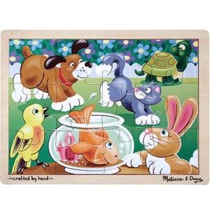 Melissa & Doug Pets Wooden Jigsaw Puzzle (12 pcs)