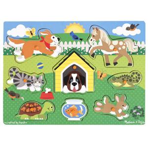 Melissa & Doug Pets Wooden Peg Puzzle, 8-pcs