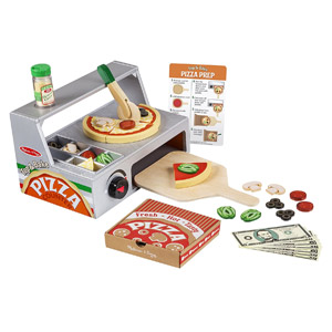 Melissa & Doug Top and Bake Wooden Pizza Counter