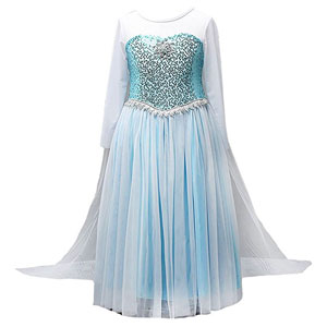 Moon Kitty Snow Queen Elsa Dress