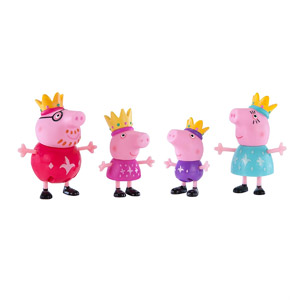 Peppa Pig Figure Royal Family, 4-Pk