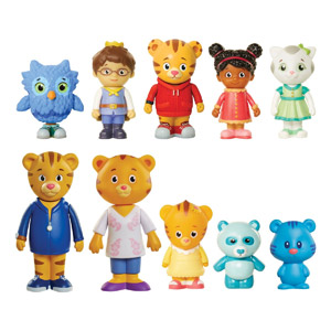 Daniel Tigers Neighborhood Friends & Family Figure Set, 10-Pk