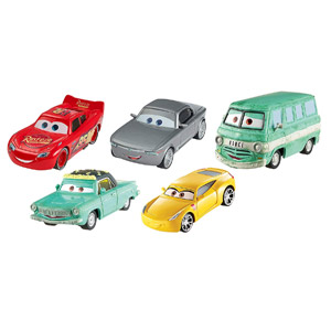 Disney Pixar Cars 3 Diecast Collection Vehicles, 5-Pk
