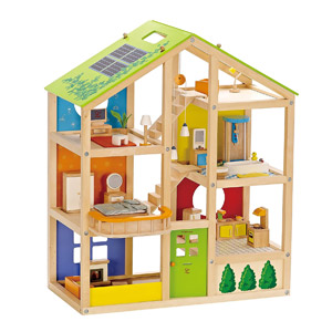 Hape All Seasons Kids Wooden Dollhouse
